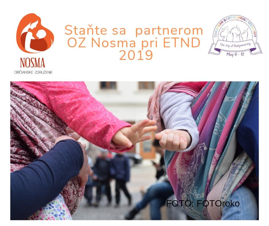 Staňte sa našim partnerom pre ETND 2019